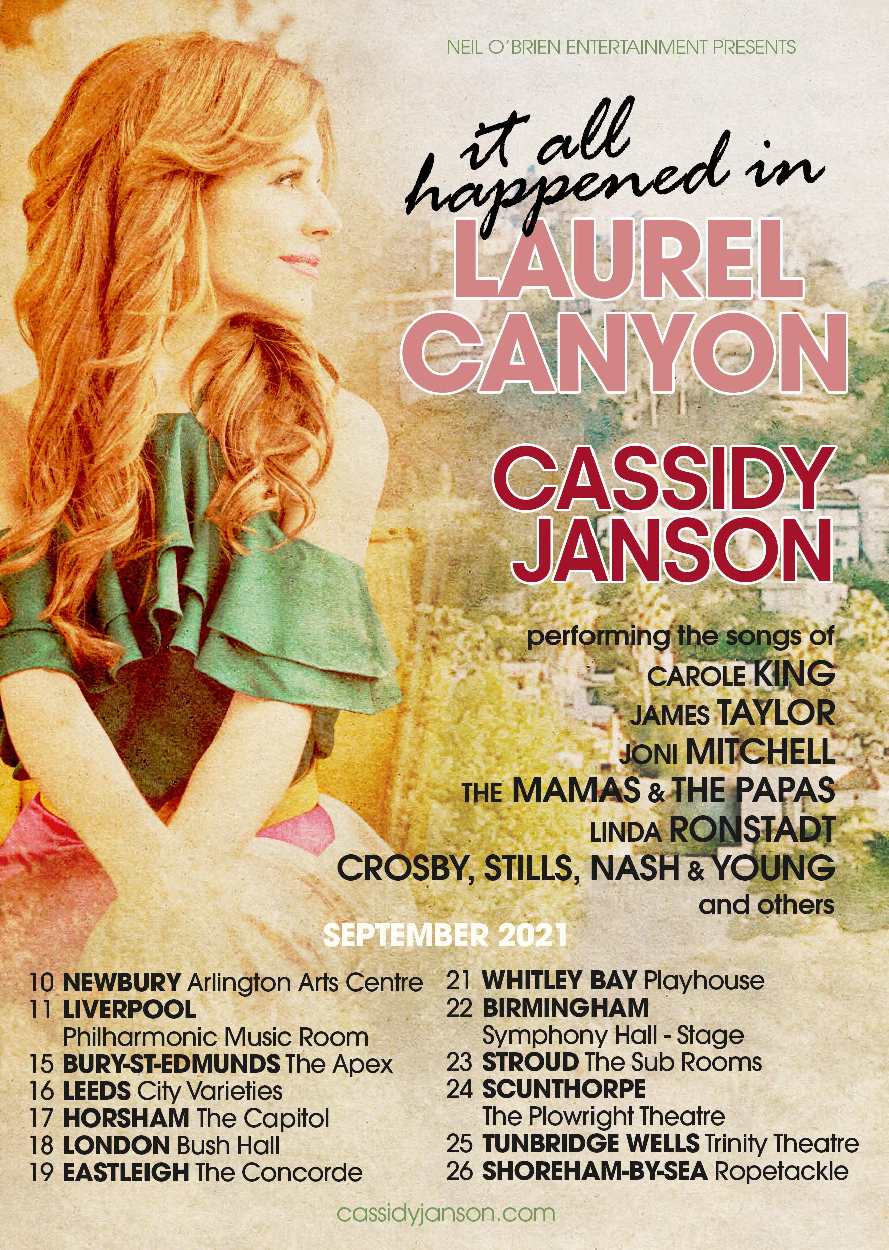 Cassidy Janson Tour September 2021